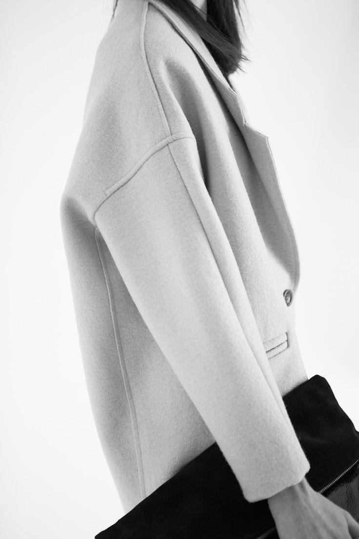 minimal style oversize coat